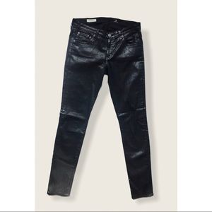Adriano Goldschmied coated black jeans